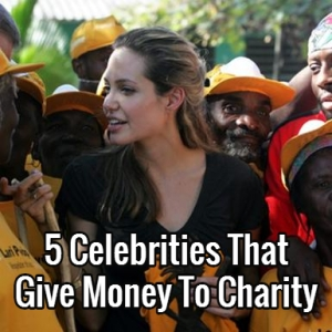 celebrities give money to charity