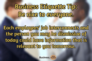 business etiquette tip